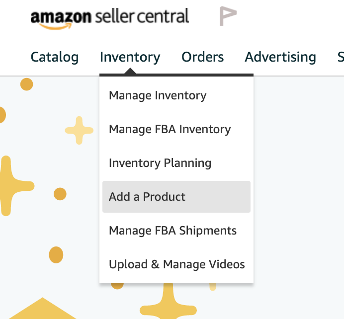 adding a product in Seller Central