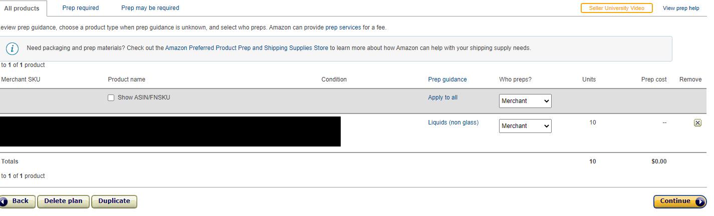 Tell Amazon who preps