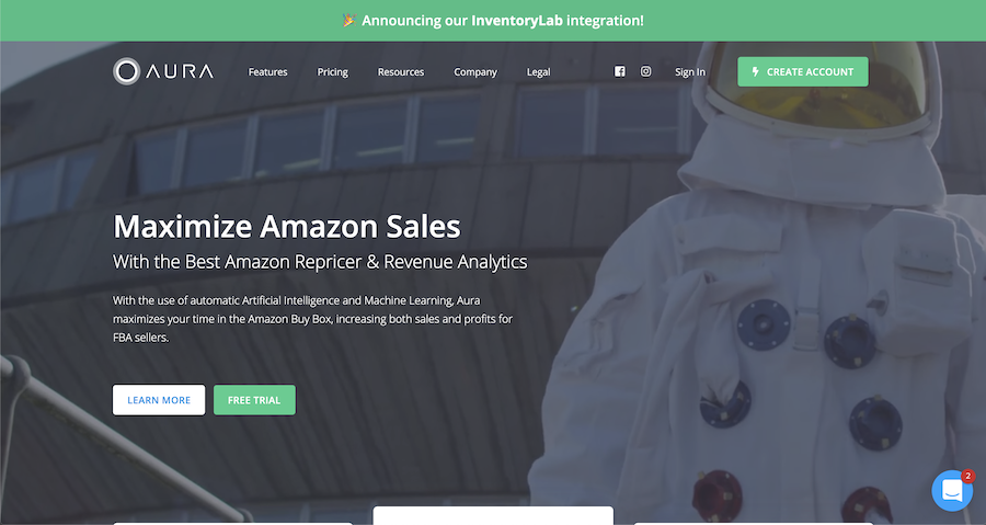Aura repricer tool for Amazon sellers wanting to grow