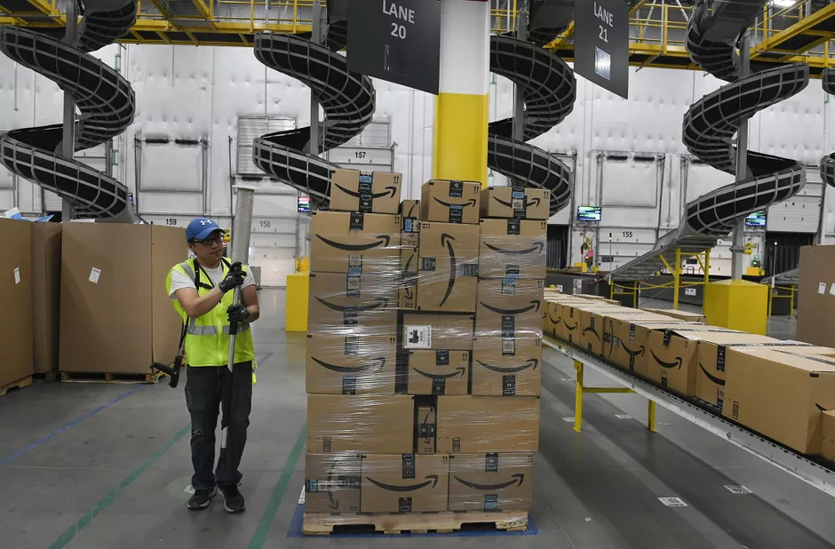Amazon warehouse and fulfillment center