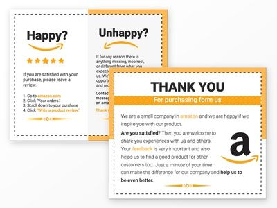 Sample image of an Amazon product insert