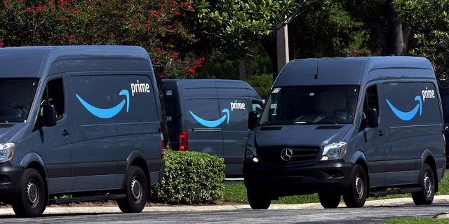 Navy blue Amazon Prime vans